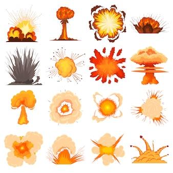 Conjunto de iconos de efecto de explosión