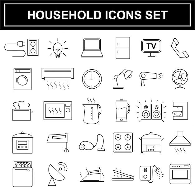 Conjunto de iconos de electrodomésticos