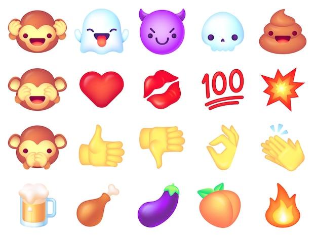Conjunto de iconos de emoji