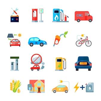 Conjunto de iconos de energía alternativa