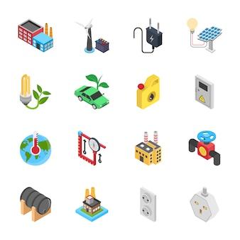Conjunto de iconos de energía
