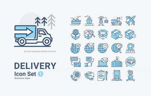 Conjunto de iconos de entrega
