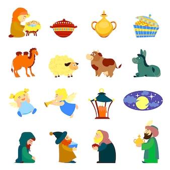 Conjunto de iconos de epifanía