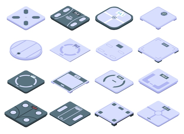 Conjunto de iconos de escalas inteligentes