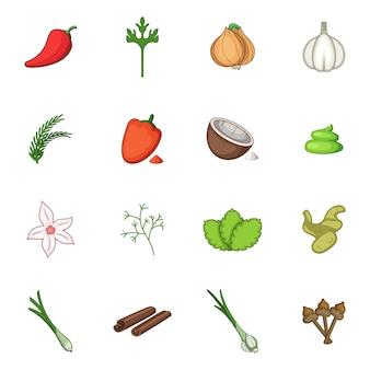 Conjunto de iconos de especias