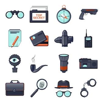 Conjunto de iconos de espía