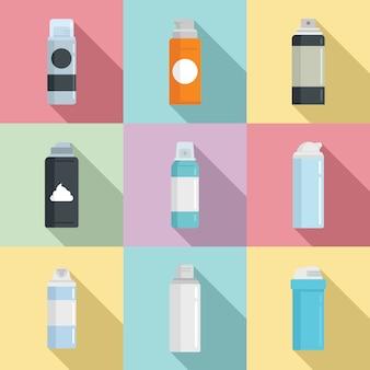 Conjunto de iconos de espuma de afeitar