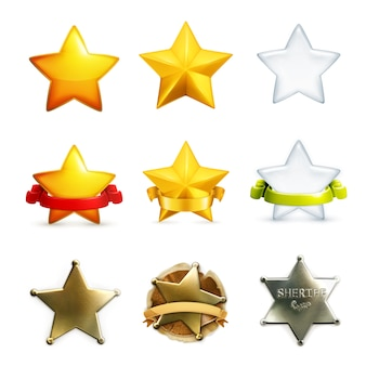 Conjunto de iconos de estrellas