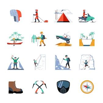 Conjunto de iconos de expedición