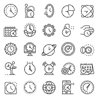 Conjunto de iconos de fecha límite