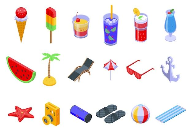Conjunto de iconos de fiesta de verano.