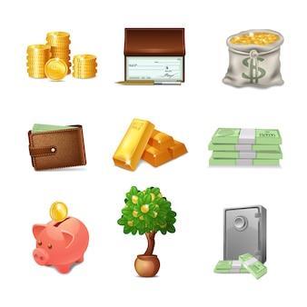 Conjunto de iconos financieros