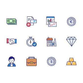 Conjunto de iconos de finanzas