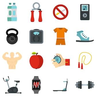 Conjunto de iconos de fitness