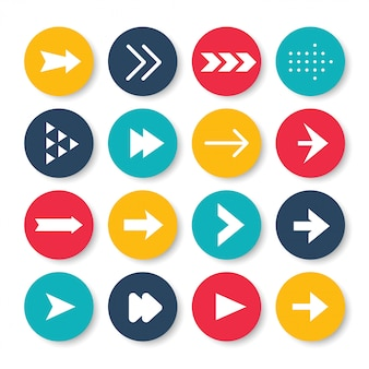 Conjunto de iconos de flechas.
