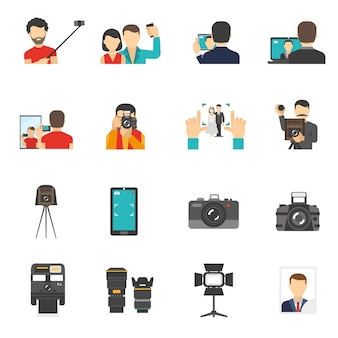Conjunto de iconos de fotografía