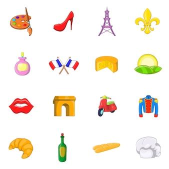 Conjunto de iconos de francia