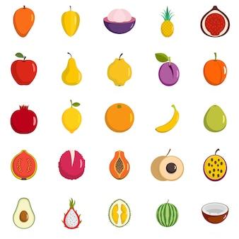 Conjunto de iconos de frutas