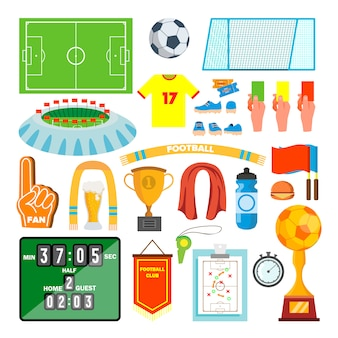 Conjunto de iconos de fútbol