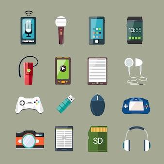 Conjunto de iconos de gadget
