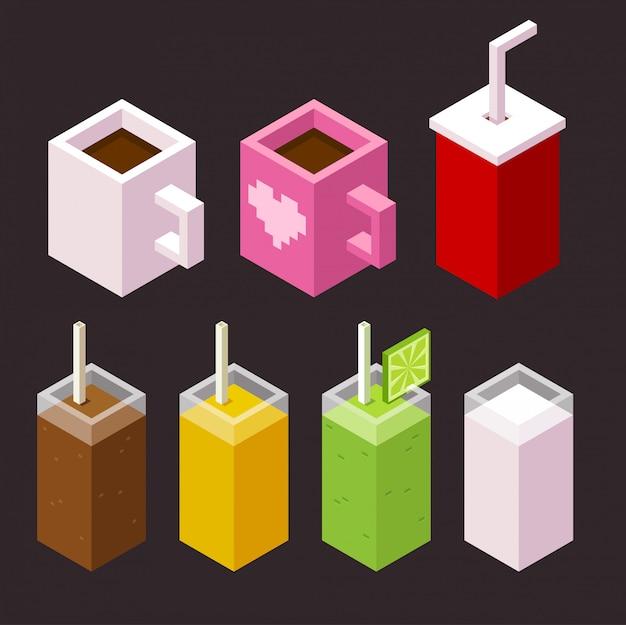Conjunto de iconos de galletas y café