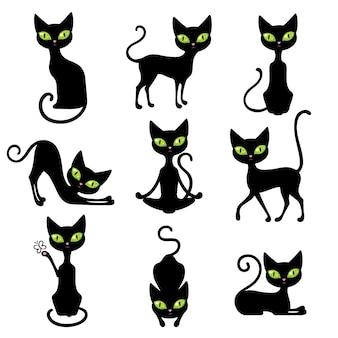 Conjunto de iconos de gatos