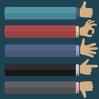 Conjunto de iconos de gestos de mano