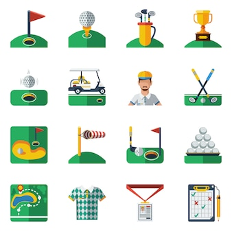 Conjunto de iconos de golf