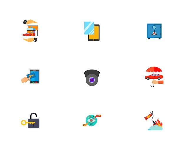 Conjunto de iconos de guardia