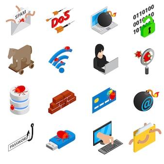 Conjunto de iconos de hacking