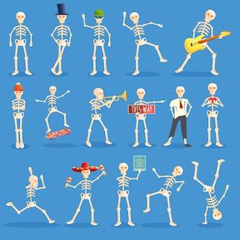 Conjunto de iconos de halloween, estilo de dibujos animados