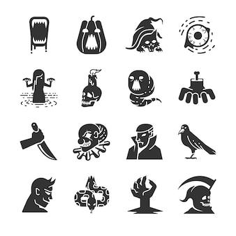 Conjunto de iconos de halloween.