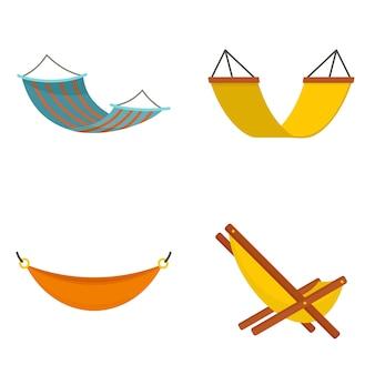 Conjunto de iconos de hamaca