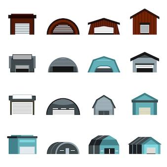 Conjunto de iconos de hangar
