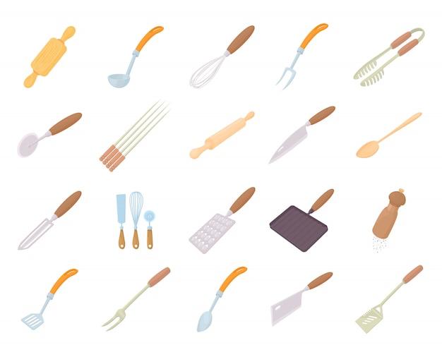 Conjunto de iconos de herramientas de cocina