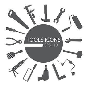 Conjunto de iconos de herramientas
