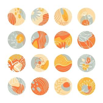 Conjunto de iconos para historias destacadas