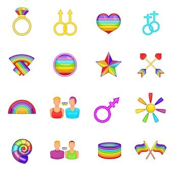 Conjunto de iconos homosexuales
