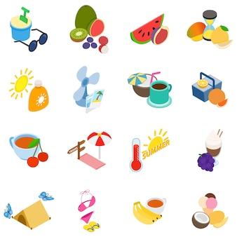 Conjunto de iconos de horario de verano