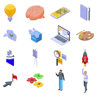 Conjunto de iconos de idea.