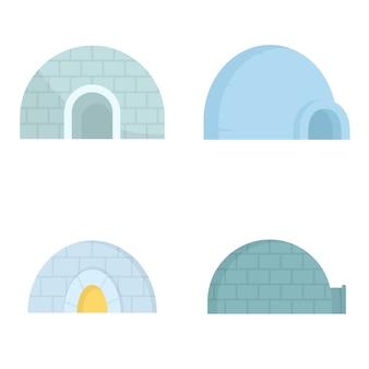 Conjunto de iconos igloo