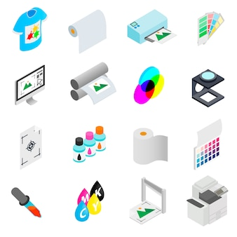 Conjunto de iconos de impresión
