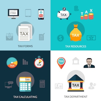 Conjunto de iconos de impuestos