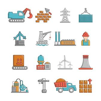 Conjunto de iconos de la industria