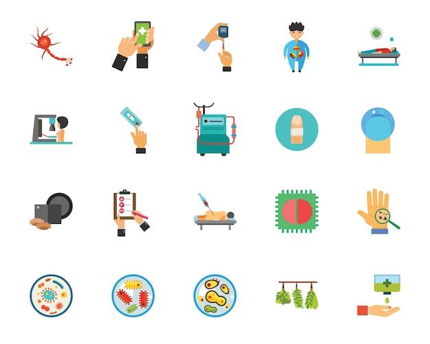Conjunto de iconos de infección