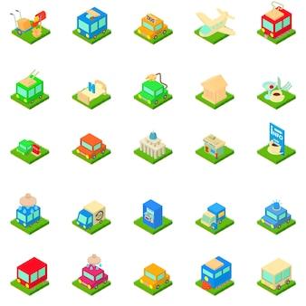 Conjunto de iconos de infraestructura urbana