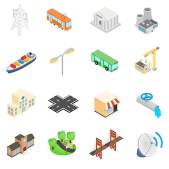 Conjunto de iconos de infraestructura