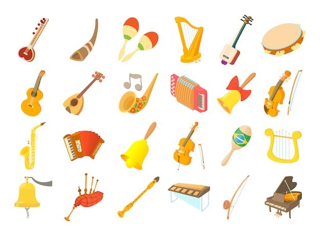 Conjunto de iconos de instrumentos musicales