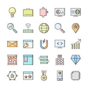 Conjunto de iconos de interfaz de usuario básica