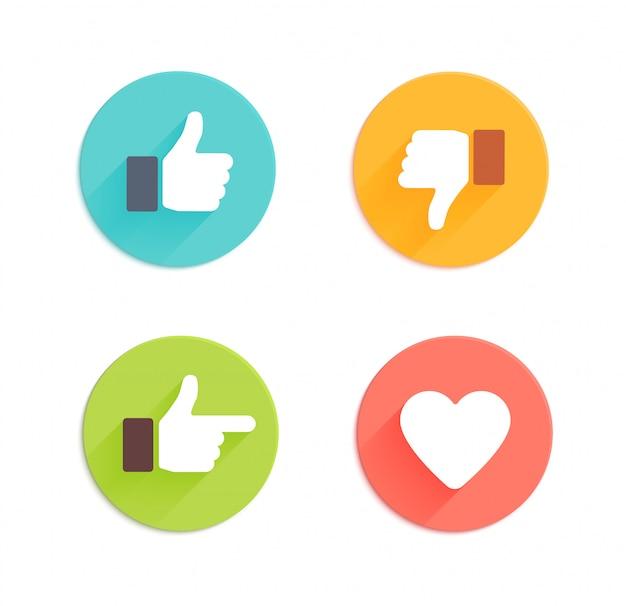 Conjunto de iconos de internet brillantes.